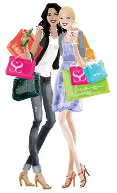 Shopping with friends:). A little retail therapy never hurts!