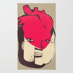 RUG/ 2' X 3'  Caio Beltrão | ilustract (caiobeltrao) Reason Emotion by Caio Beltrão | Ilustract