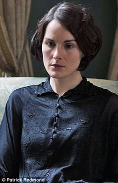 Lady Mary mourns the death of Matthew in the new series of Downton Abbey