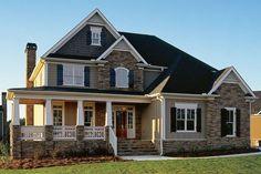 Craftsman Style House Plan - 4 Beds 2.50 Baths 2443 Sq/Ft Plan #927-1 Exterior - Front Elevation - Houseplans.com