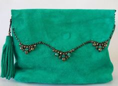 Handmade clutch bags, both sides usable, comes in variable colors and ornamented with gem stones. Handmade Clutch, Fall Shoes, Leather Working, Leather Handbags, Clutch Bags, Gemstones, Couture, Shoe Bag, Sewing