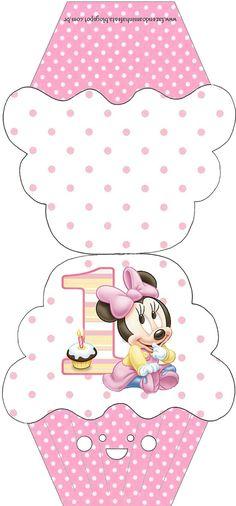 Ideas y material gratis para fiestas y celebraciones Oh My Fiesta!: Imprimibles de Minnie primer año 5.