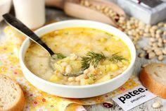 Фасолевый суп с плавленым сыром