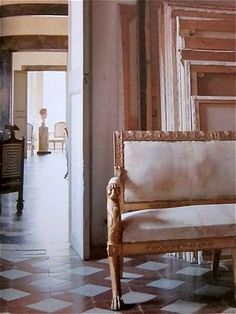 Settee and enfilade