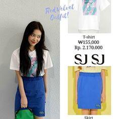 Velvet Style, Red Velvet, Velvet Fashion, Girl Closet, Teen Fashion Outfits, Seulgi, Kpop Girls, Girl Group, High Waisted Skirt