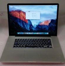 Macbook Pro 17 Early 2009 Intel 2 66ghz C2d 4gb 320gb Hdd El Capitan Apple Laptop Macbook Pro 17 Laptop