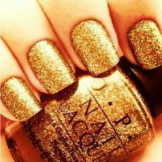 Gold Glitter Nail Polish What Could Be More Perfect