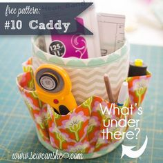 The #10 Caddy Pattern is here! {free} — SewCanShe | Free Daily Sewing Tutorials