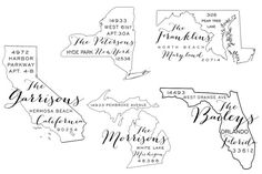 Custom Rubber Stamp: State Stamp (49 states available). $33.00, via Etsy.