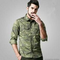Camisa camuflada hombre
