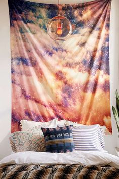 Shop Shannon Clark For Deny Cosmic Tapestry at Urban Outfitters today. We carry all the latest styles, colors and brands for you to choose from right here. Tapestry Weaving, Wall Tapestry, Dorm Room Art, Hidden Rooms, Dream Decor, Room Themes, Wall Prints, Bedding Sets, Living Spaces