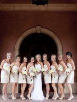 Wedding, Bridesmaids, Bridal, Elegant, Ivory, Party, Champagne, Classic, Neutral, Lauren doug