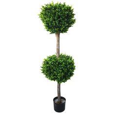 Romano 56-inch Indoor/ Outdoor Hedyotis Double Ball Topiary Tree