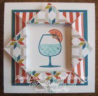 SKETCH Happy hour folded frames - quilt