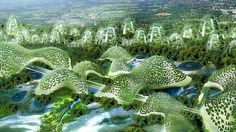 The Landscript concept tries to remodel a 220-hectare industrial area on the outskirts of Geneva in ... / Credits: Vincent Callebaut