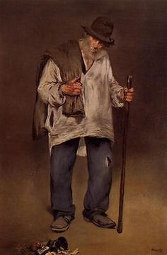 "The Ragpicker 1869 Edouard Manet 11""x14"" canvas print - http://art.goshoppins.com/prints/the-ragpicker-1869-edouard-manet-11x14-canvas-print/"
