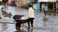 Zware overstroming De morgen 27/02/15 Het zuiden van Albanië