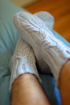 Log Cabin Socks, from Handknit Holidays. .