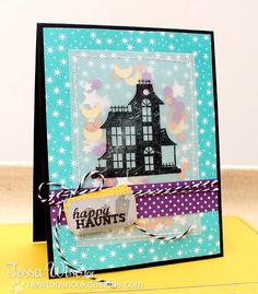 CRAFTY GIRL DESIGNS: Newton's Nook Designs September Release- Spooky Street  ... cuteness with confetti sewn behind the vellum.