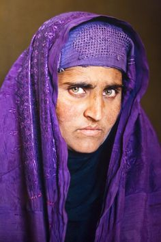 Years later, Sharbat Gula, the same young girl Steve McCurry photographed in the Nasir Bagh refugee camp near Peshawar Afghanistan (--Photo.1/B--)