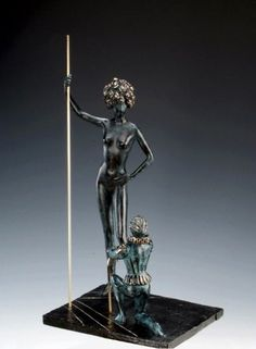 Homage to Fashion Bronze Sculpture 1984 by Salvador Dali - Bronze, Lost Wax…