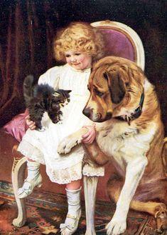 Arthur John Elsley ~ Kiss And Be Friends, Version II, 1901