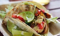 Grilled Fish Tacos with Roasted Corn & Pepitas