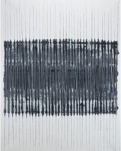Kwon Young-Woo, Untitled. 1984. #art#painting#gouache#chineseink#koreanartist#monochromatic#dansaekhwa#kwonyoungwoo