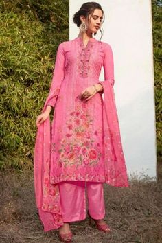 #Pakistani #Dresses - Buy #Pink Georgette #Palazzo Suits #Online Uk at #Shopkund Pakistani Dresses Online, Salwar Suits Online, Designer Salwar Suits, Pakistani Outfits, Designer Dresses, Churidar, Salwar Kameez, Style Palazzo, Palazzo Suit