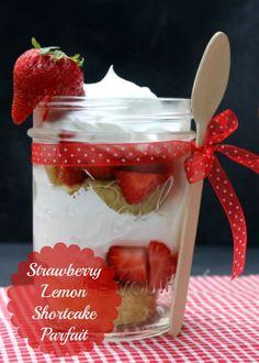 Strawberry Lemon Shortcake Parfait Recipe