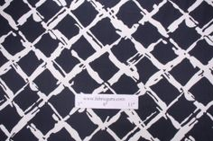 Robert Allen Tidal Bay Printed Cotton Drapery Fabric in Navy $5.95 per yard