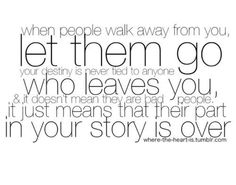 ..letting go is never easy but this does have a point..