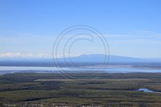 A view of Sleeping Lady from on top of the Chugach Mountains.