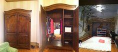Wardrobe leads to Narnia-themed playroom. <3