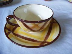 1 Vernonware Cup & Saucer, Organdie Pattern