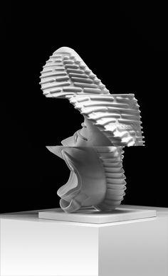 A sculptural art piece of a life size Yeezy Boost 350.