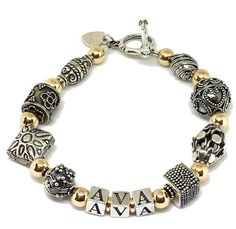 Kiss Rosary Crown Jewel Bath Silver Bracelet Crystal Bracelet