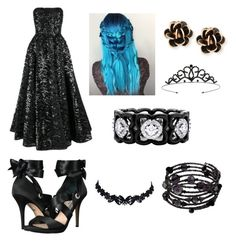 """Teenage Willow Formal"" by robbecasteam ❤ liked on Polyvore featuring Nina, Miss Selfridge, Chantecler, De Beers and 1928"