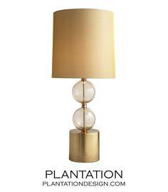 Mesa Glass Table Lamp | Gold