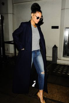 Rihanna does street casual as well as she does basic