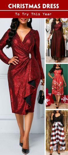 a9c9e34fab1 Christmas Sheath Fashion Long Sleeve Wine Red Zipper Back Sequin Dress.   christmas dress