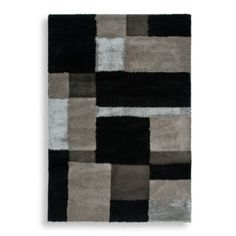 Orian Big City Aston Rectangle Rug in Black - BedBathandBeyond.com $179.99-$399.99