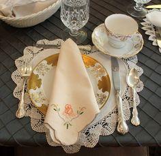 a proper tea  Tablescape