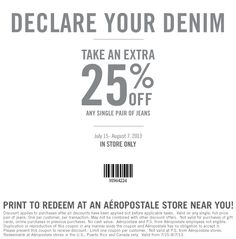 20 off aeropostale coupon codes amp printable coupons 2019 - 650×660