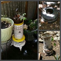 Copper Kettle & Reliable Oil Stove to planter and stand. Oil Stove, Reuse, Kettle, Repurposed, Recycling, Planters, Copper, Diy Projects, Gardening