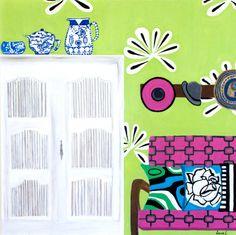 Original Acrylic Painting on Canvas 24x24-artist signed,Etsy Art, Decorative Art, Wall Art,  By Zana Lokmer, Interior Art, Canvas Art