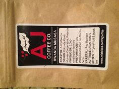 AJ Coffee Mistobox Rwanda, tropical fruit and black tea