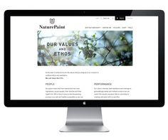 Website design by B Studio for earth-friendly powdered wall paint Naturepaint. #Branding #Design #Website