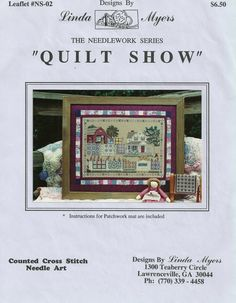 Counted Cross Stitch Chart Quilt Show by by PointedNeedleDestash, $5.00