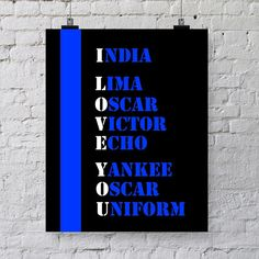 Law Enforcement Thin Blue Line Printable- Instant Download - Gift for Police Officer on Etsy, $5.00
